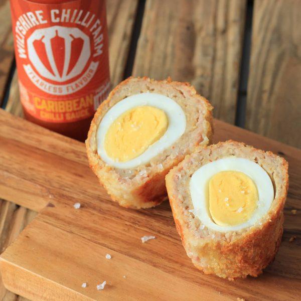 Wiltshire Chilli Farm - Carribean Chilli Sauce - Scotch Egg