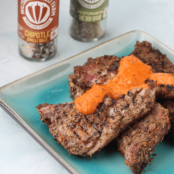 Wiltshire Chilli Farm - Med Herb Rub - Chipotle Chilli Salt - Lamb Chops