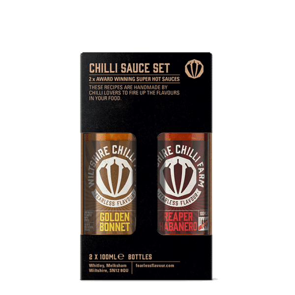 100ml Chilli Sauce Gift Set - Golden Bonnet & Reaper Habanero