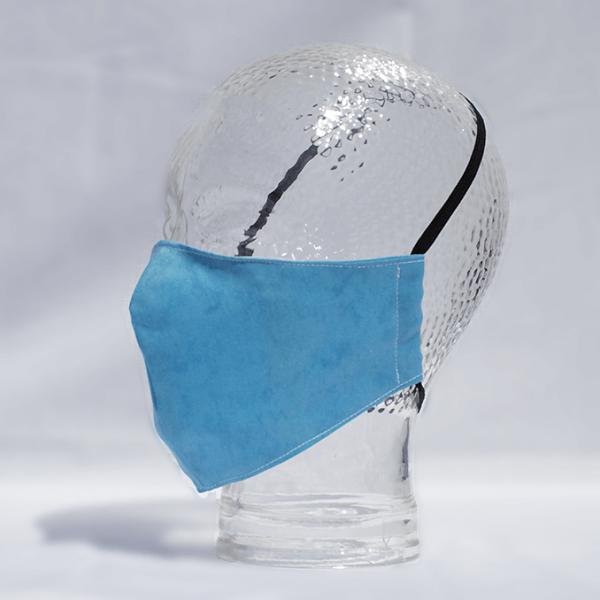 Shaped Washable 100% Cotton Facemask - Blue