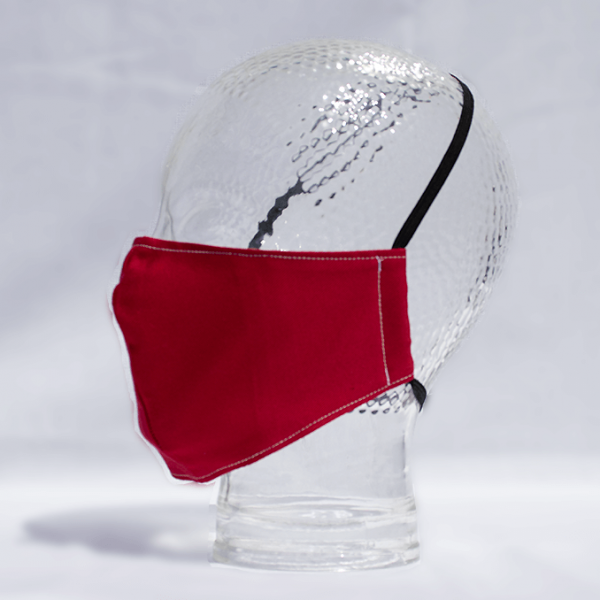 Shaped Washable 100% Cotton Facemask - Red